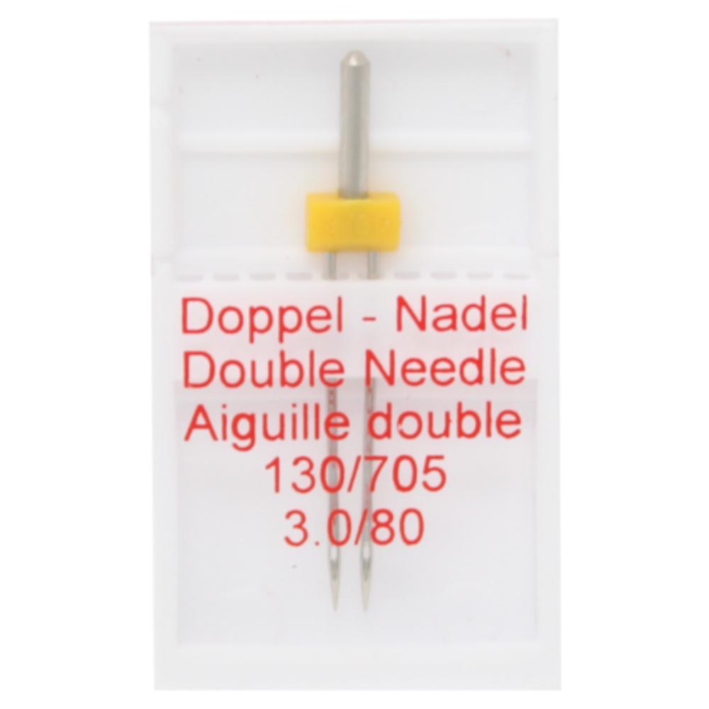 1x Zwillingsnadel / Doppelnadel - 3.0/80