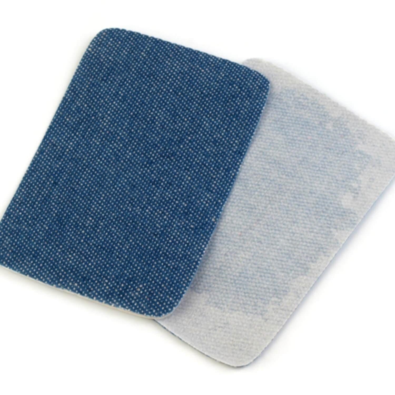 2x Jeans Bügelflicken - 5,3 x 7,9 cm - Blau (3)