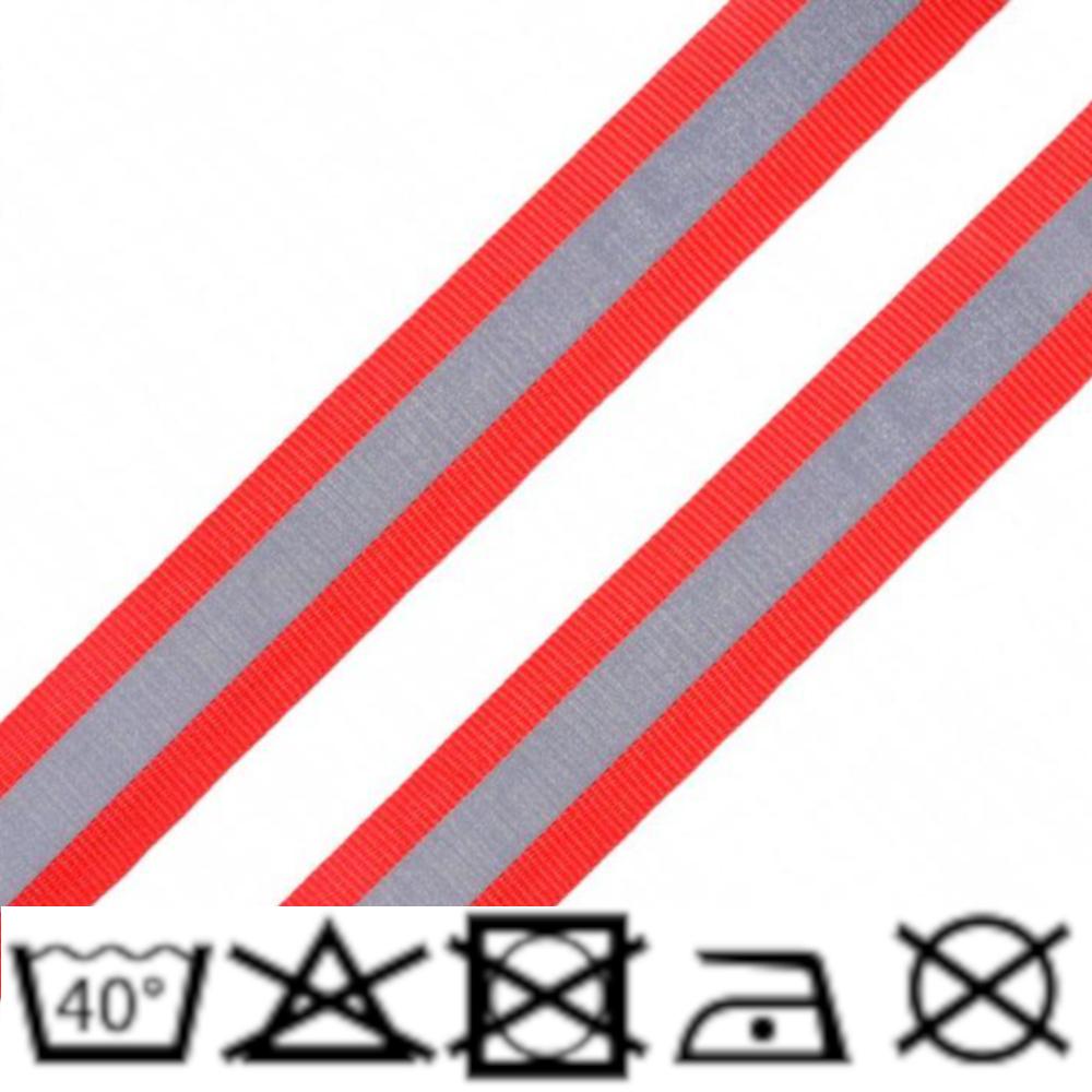 Reflexband - 25mm - Rot