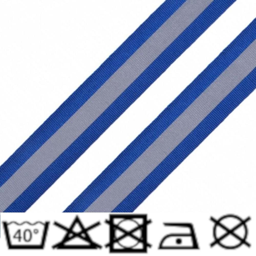 Reflexband - 25mm - Blau