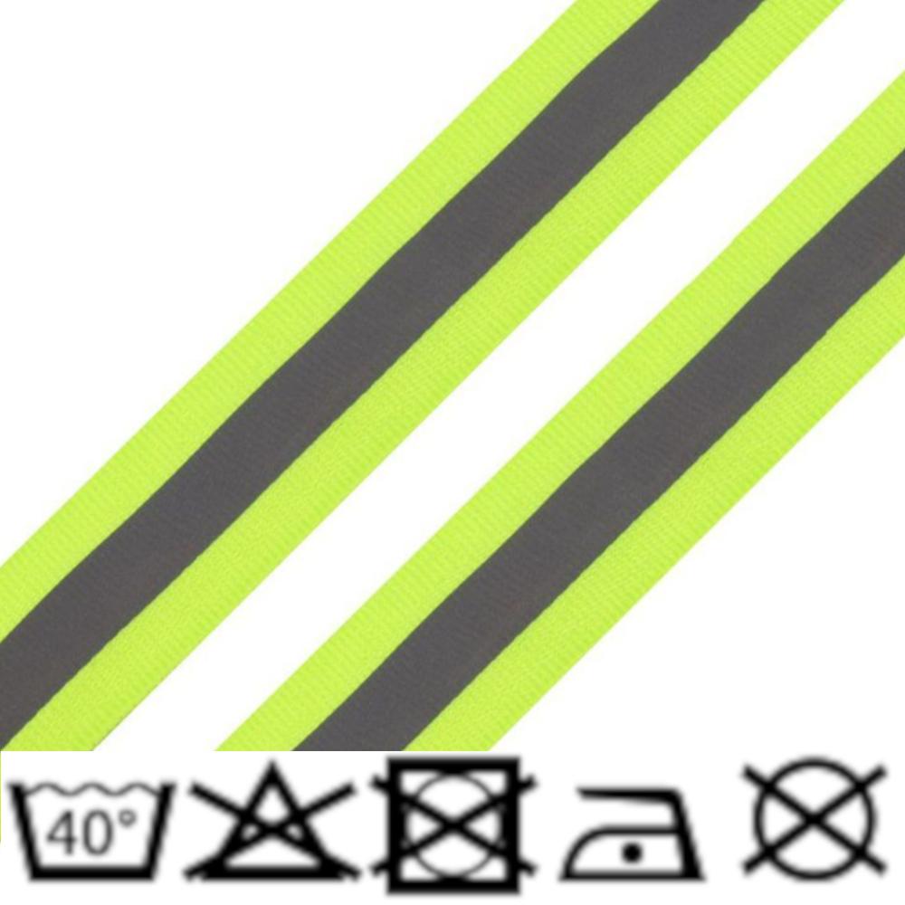 Reflexband - 25mm - Neon Gelb-Grün