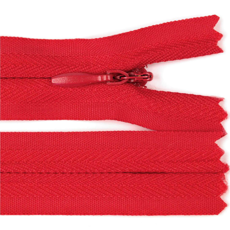 Reißverschluss - 30cm - nicht trennbar - Rot (148)