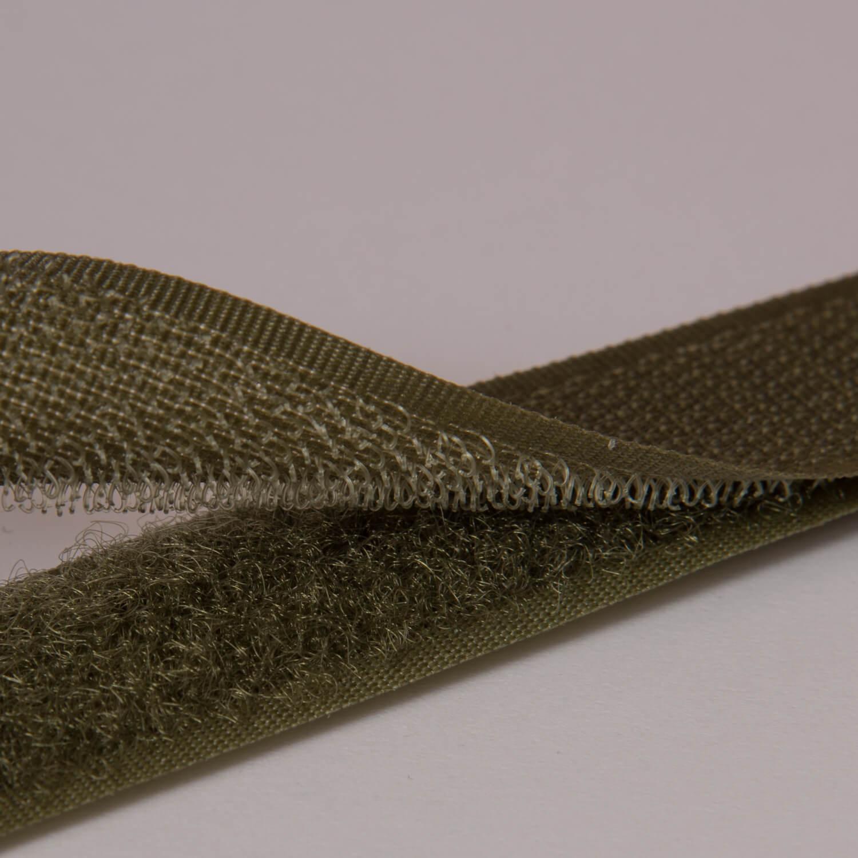 20 mm Klettband - Haken & Flauschband - NÄHBAR - Armee-Grün (256)
