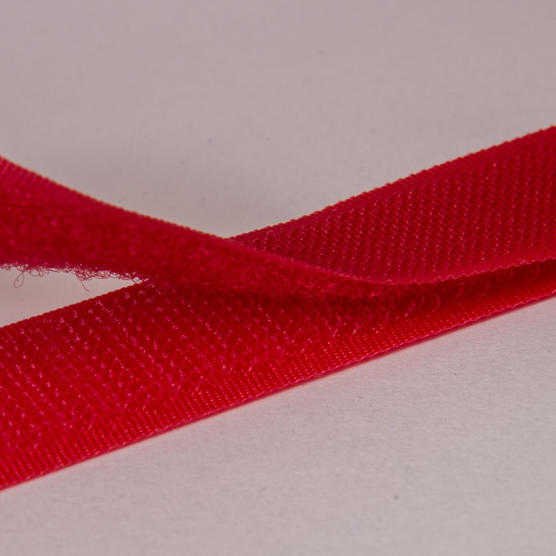 20 mm Klettband - Haken & Flauschband - NÄHBAR - Rot (529)