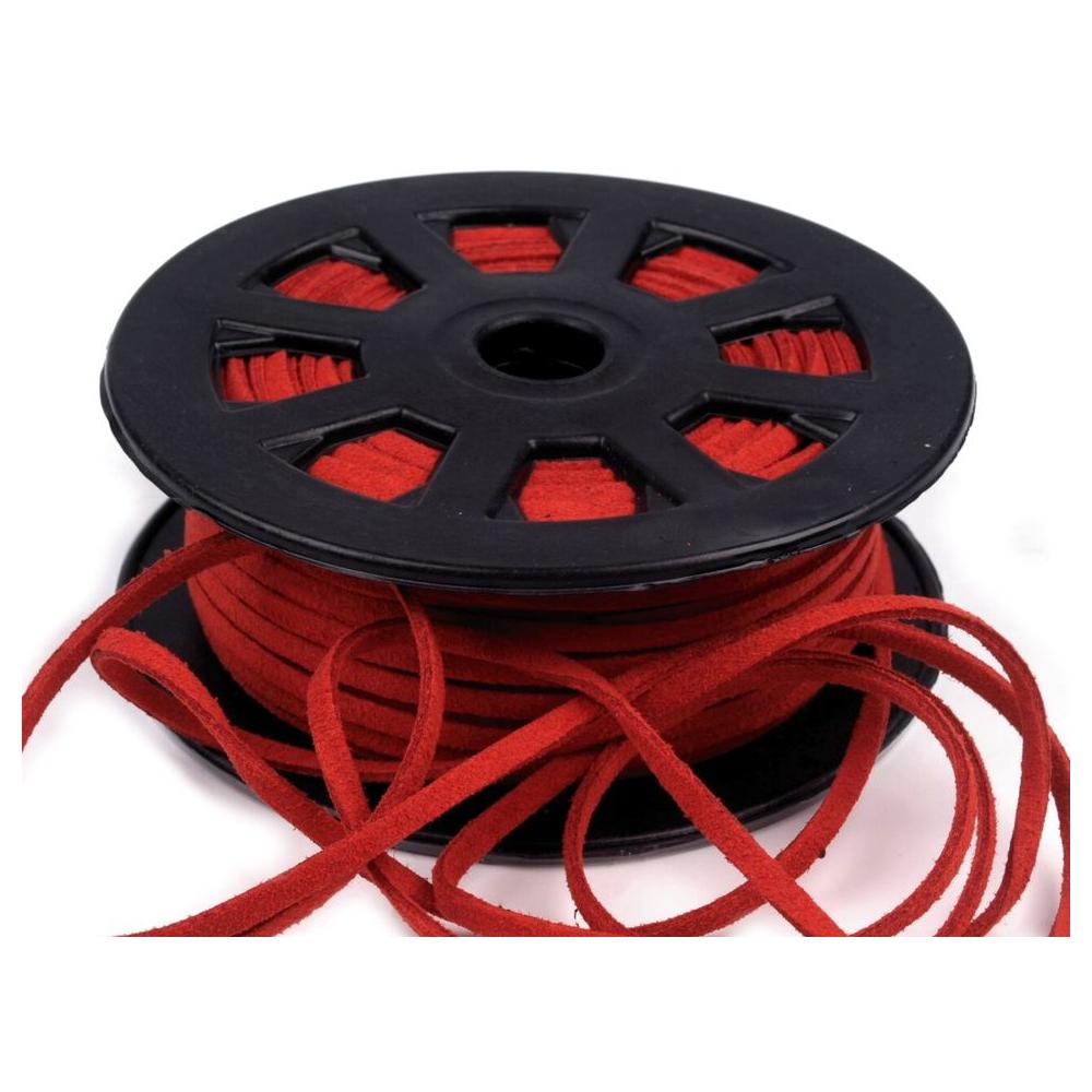 3mm Kunstlederband in Rot