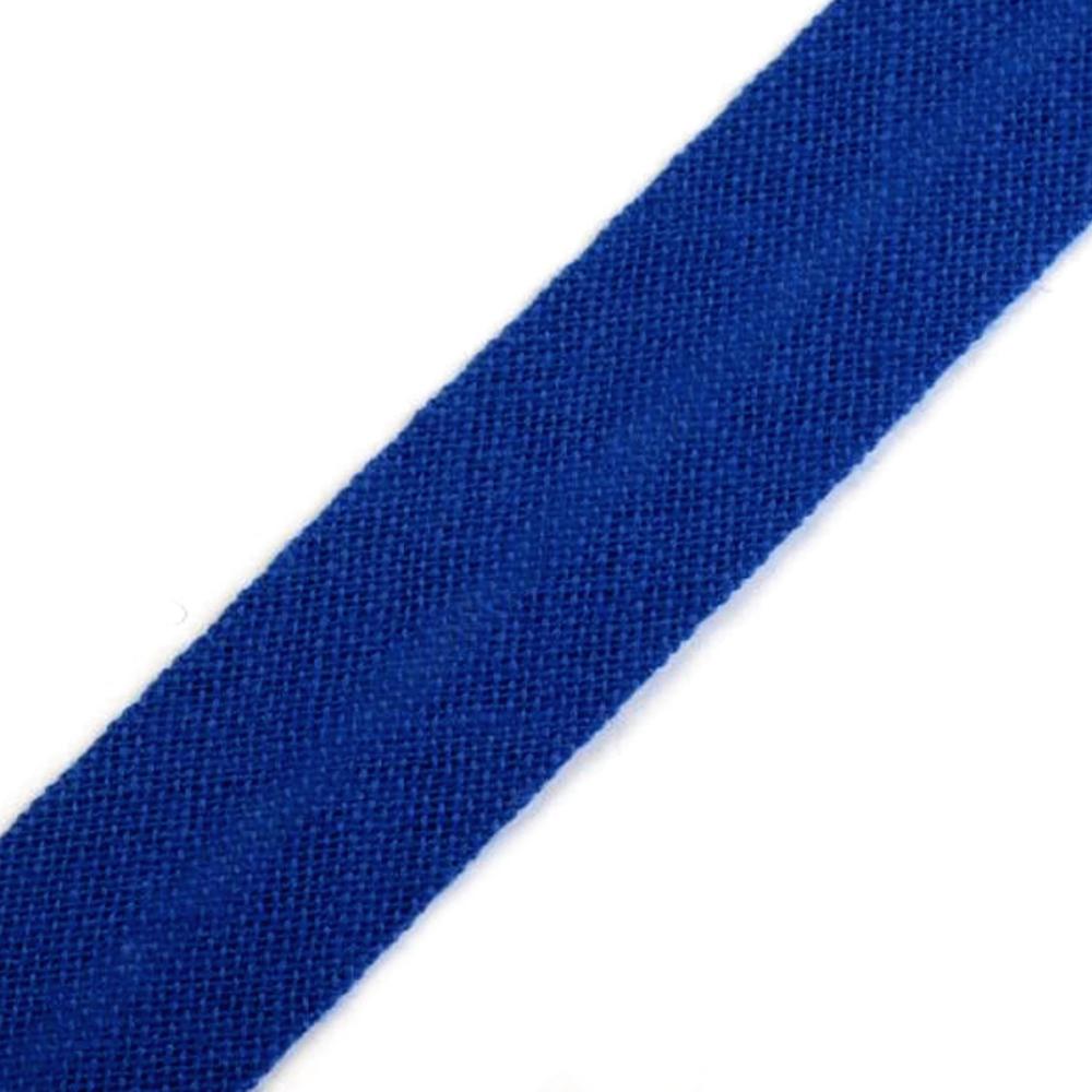 Schrägband aus Baumwolle 14mm breit gefalzt in Jeansblau (344)