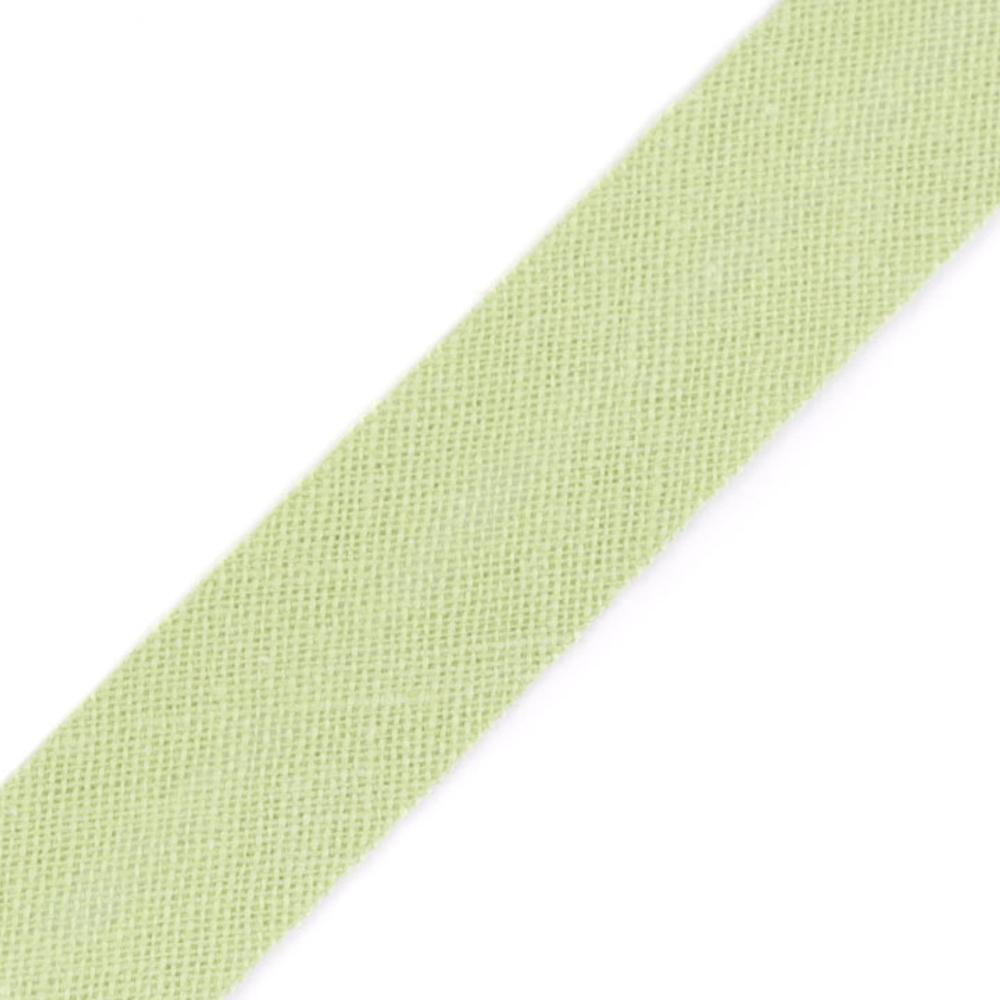 Schrägband aus Baumwolle 14mm breit gefalzt in Lindgrün (151)