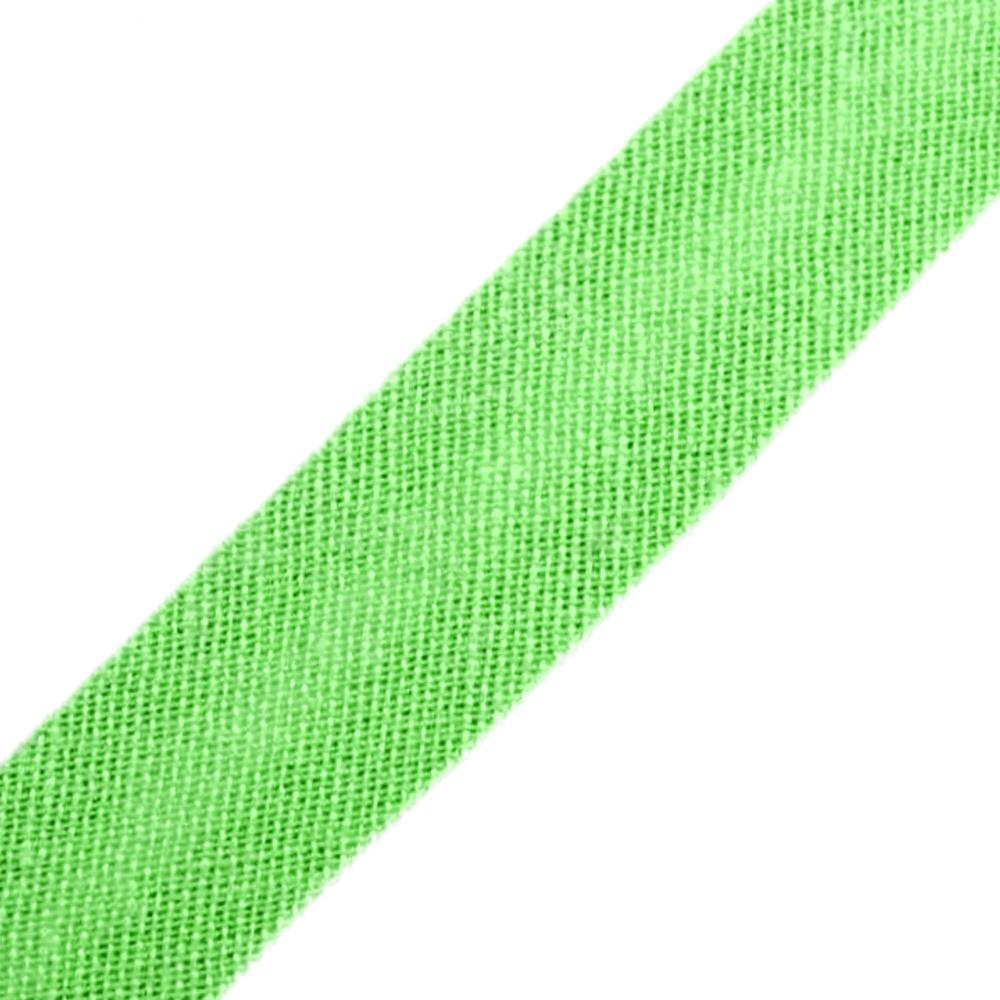 Schrägband aus Baumwolle 14mm breit gefalzt in Jasmingrün (414)