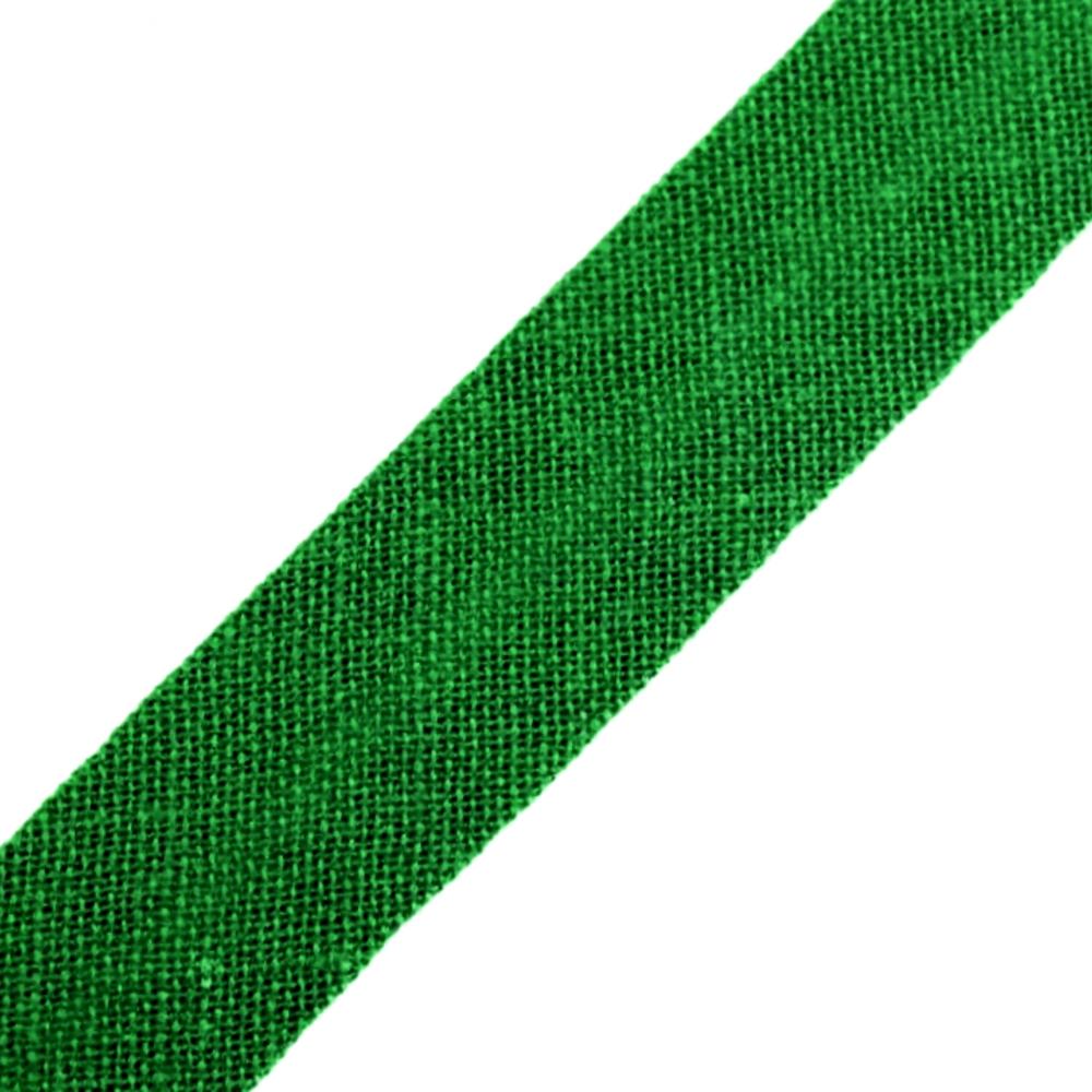 Schrägband aus Baumwolle 14mm breit gefalzt in Grün (385)