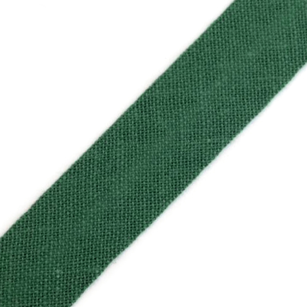 Schrägband aus Baumwolle 14mm breit gefalzt in Dunkelgrün (551)