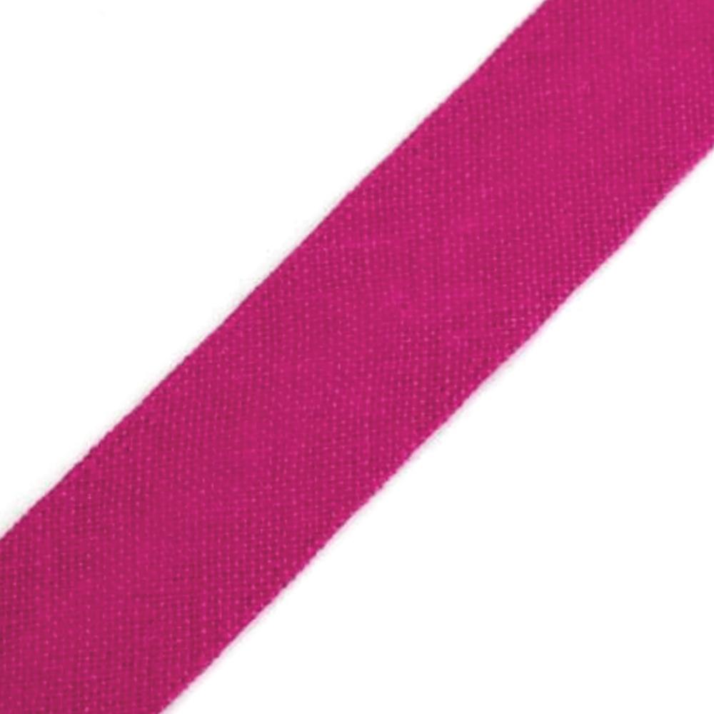 Schrägband aus Baumwolle 14mm breit gefalzt in Fandango Pink (222)