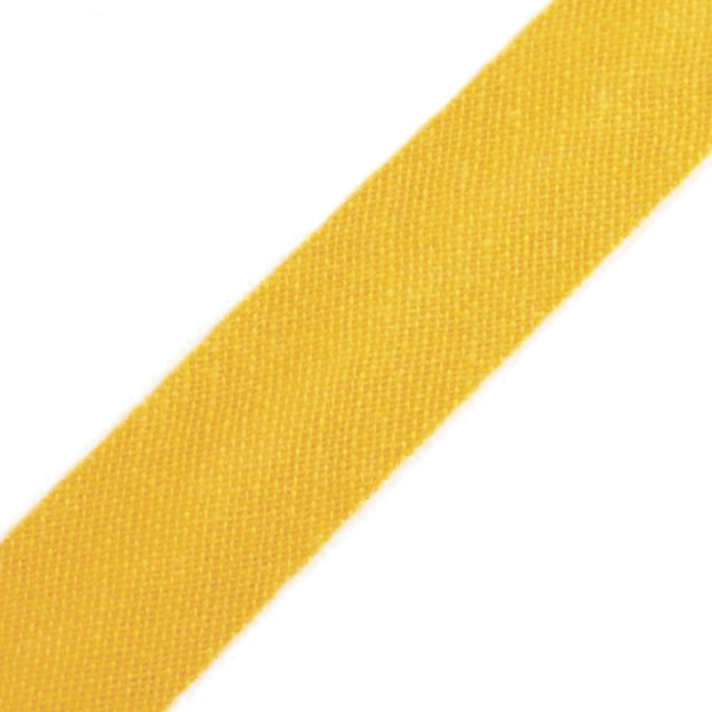 Schrägband aus Baumwolle 14mm breit gefalzt in Daffodil (662)