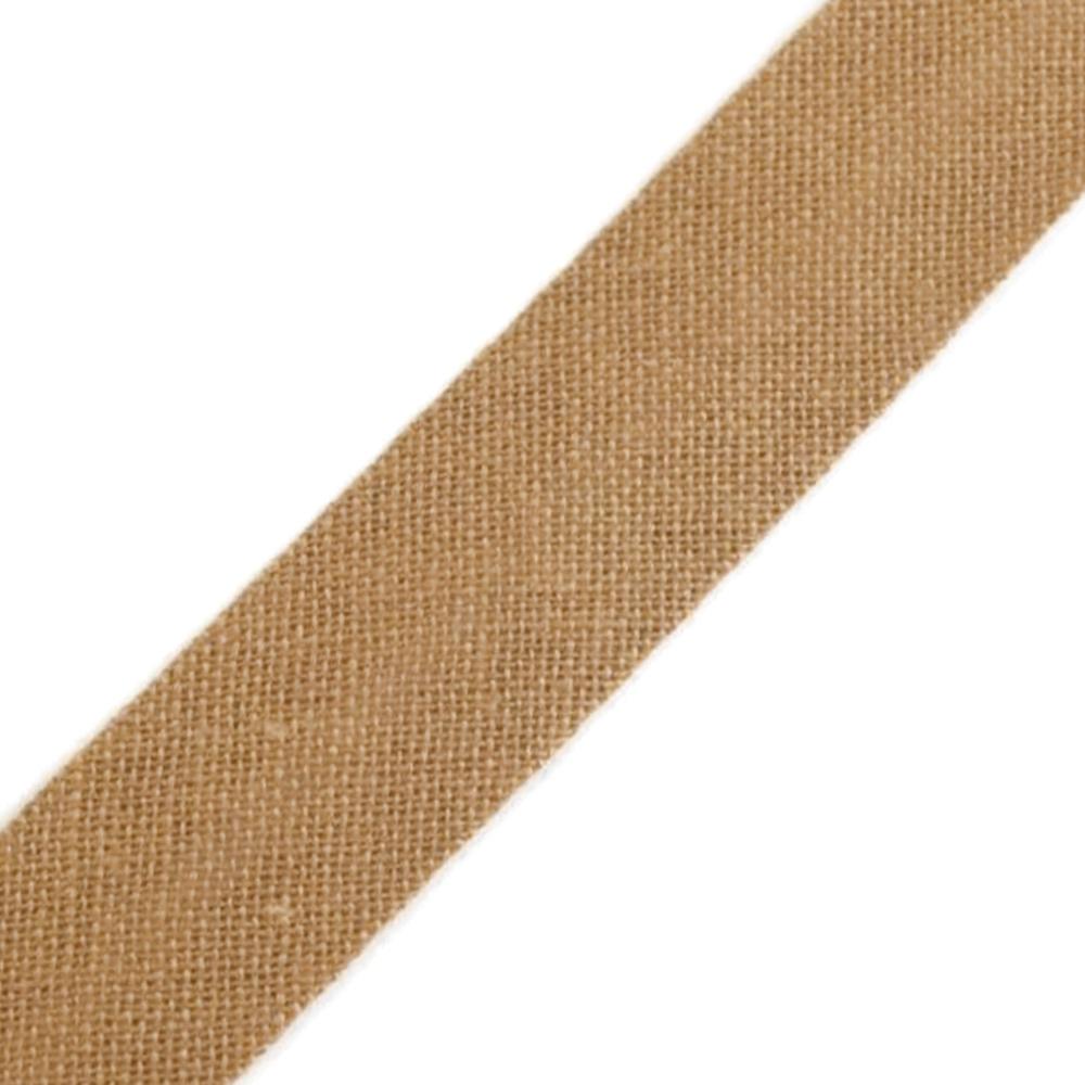 Schrägband aus Baumwolle 14mm breit gefalzt in  Brown Sugar (824)