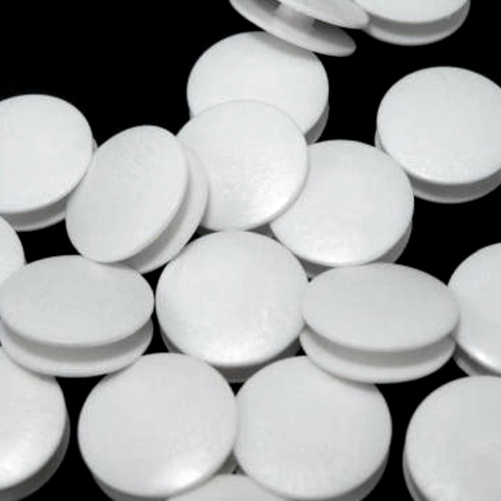 """10 Wäscheknöpfe - 28"""" = 18,4mm - doppelt - Weiß"""