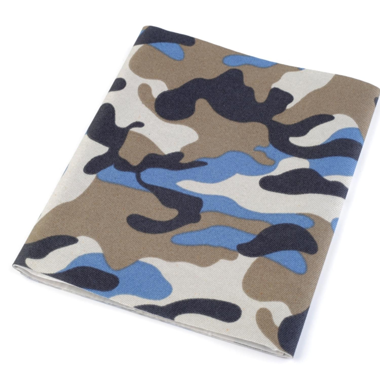 Bügelflicken Camouflage 17x43 cm - Jeansblau (1)
