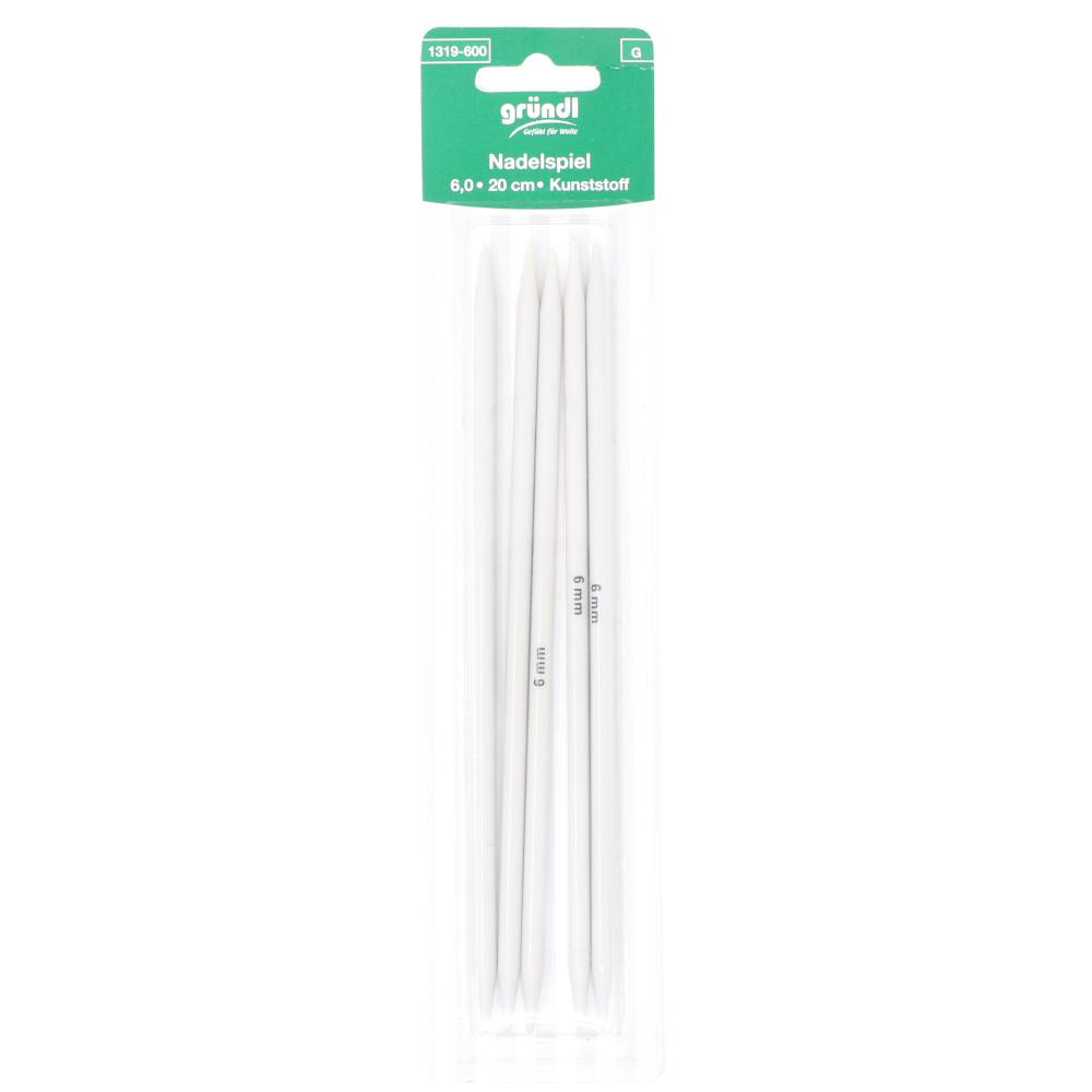GRÜNDL | 5x Nadelspiel mit 20cm Länge - 6,0mm