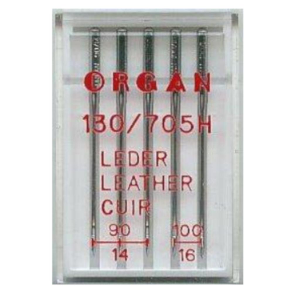 ORGAN | 5 Leder Maschinennadeln - 90/14 und 100/16