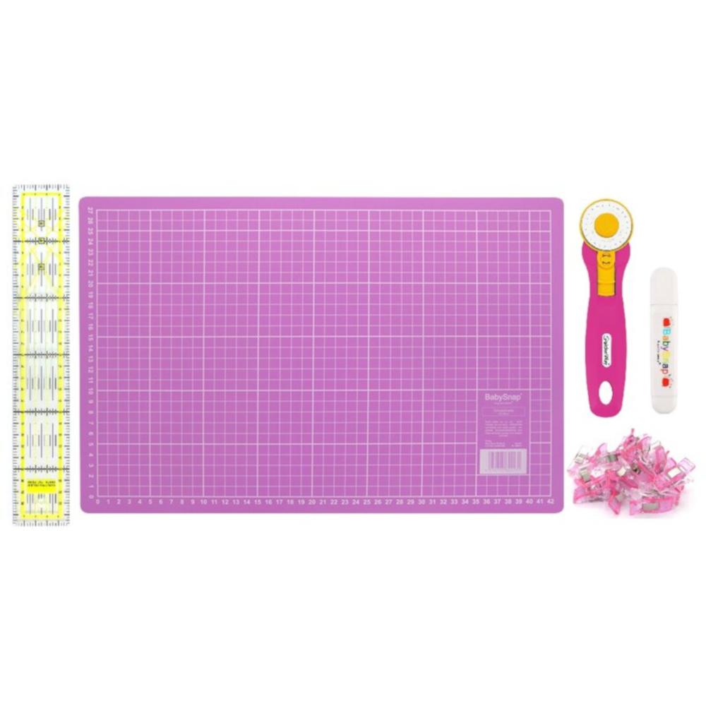 BabySnap Patchwork Set Mini (45x30 cm) pink