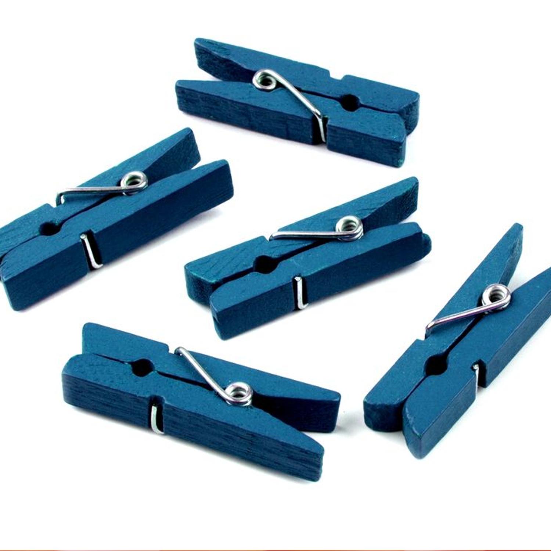 10 Wäscheklammern - 7x35 mm - Blau