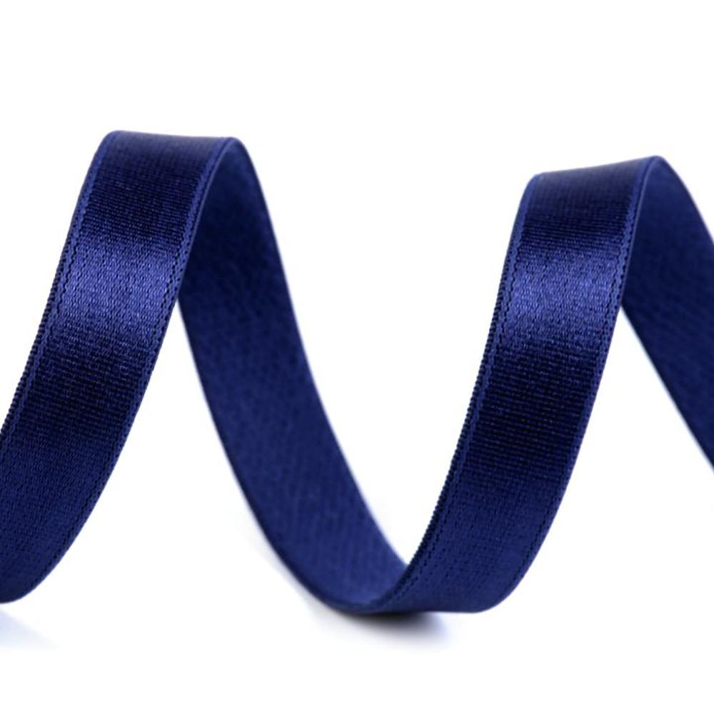 BH-Träger Gummiband aus Satin 12mm in Saphir Blau