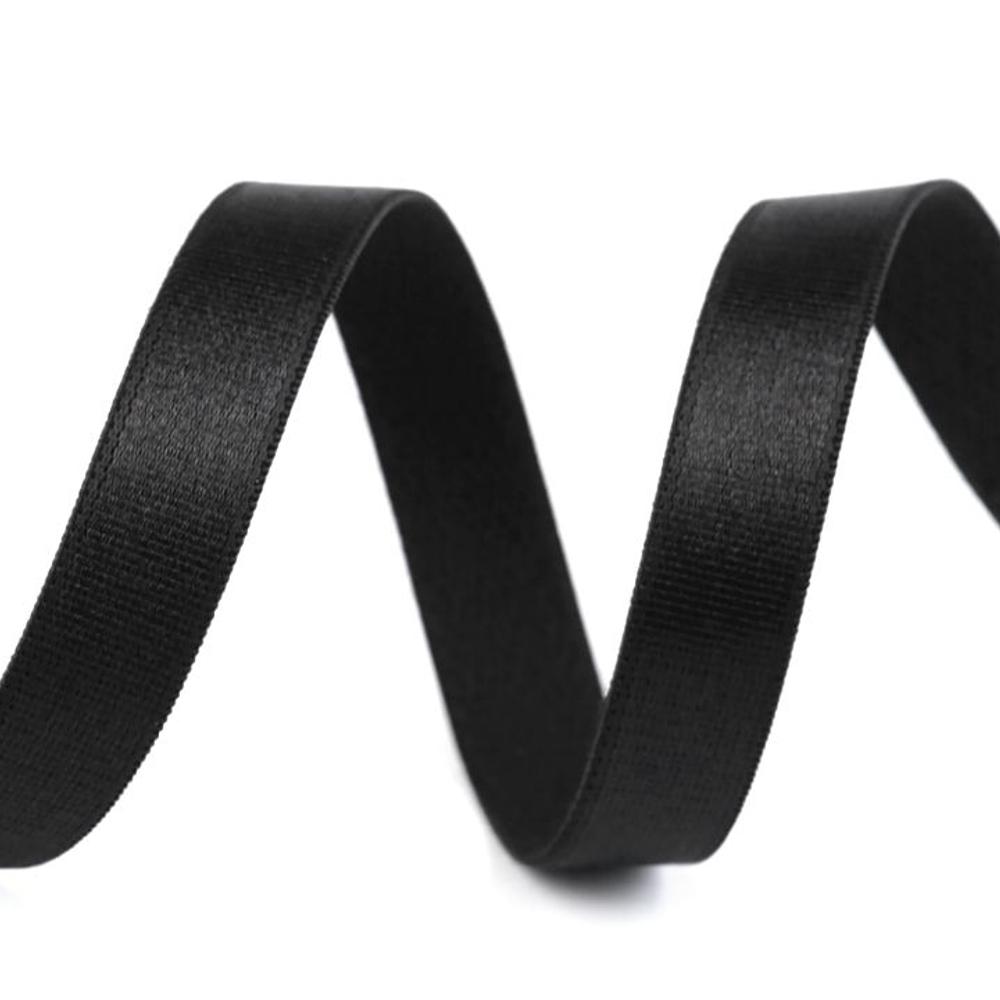 BH-Träger Gummiband aus Satin 12mm in Schwarz