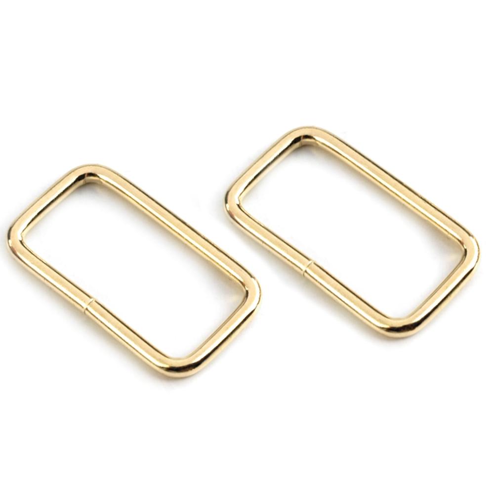 5 Taschenschlaufen 13x25mm in goldfarben