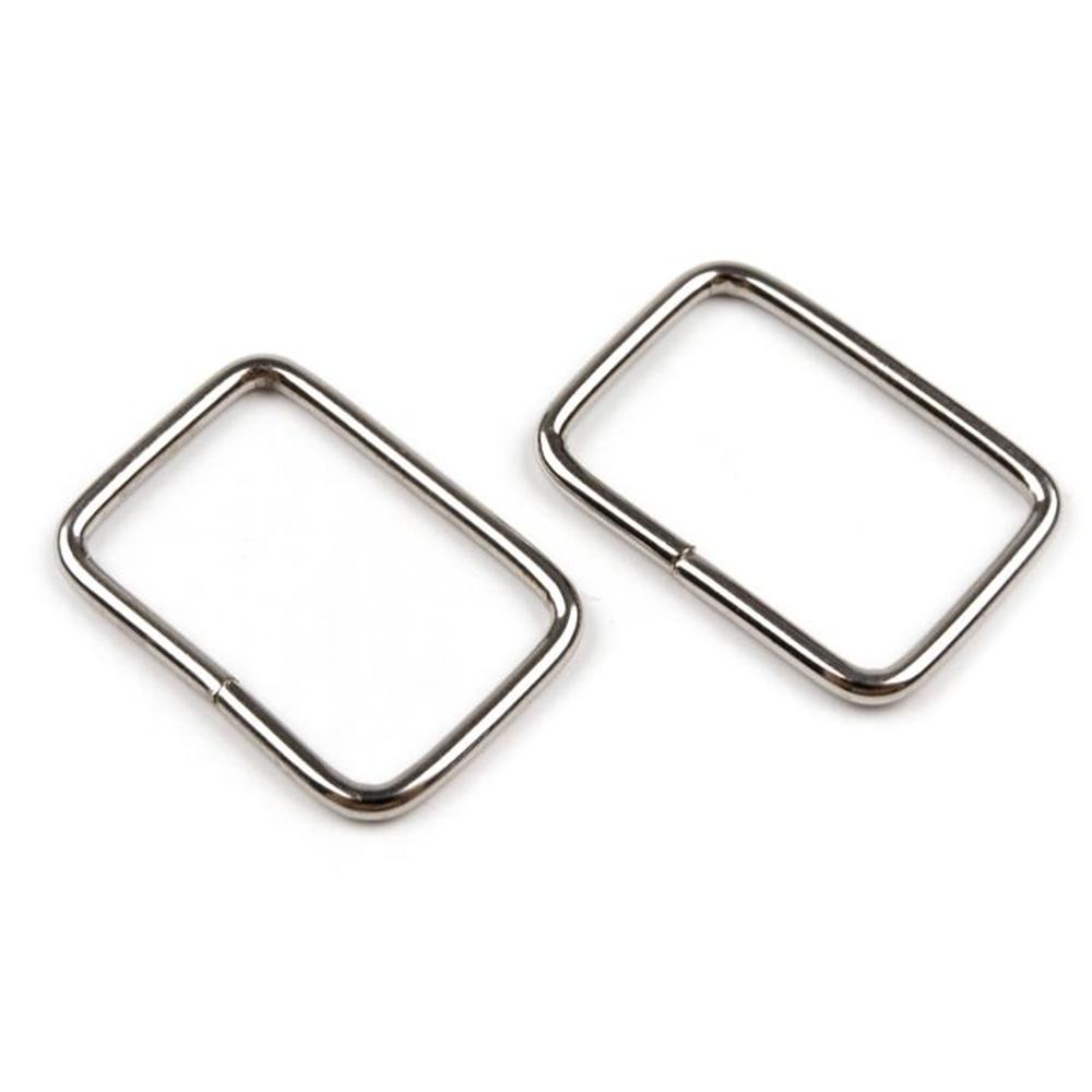 5 Taschenschlaufen 13x20mm in Silberfarben