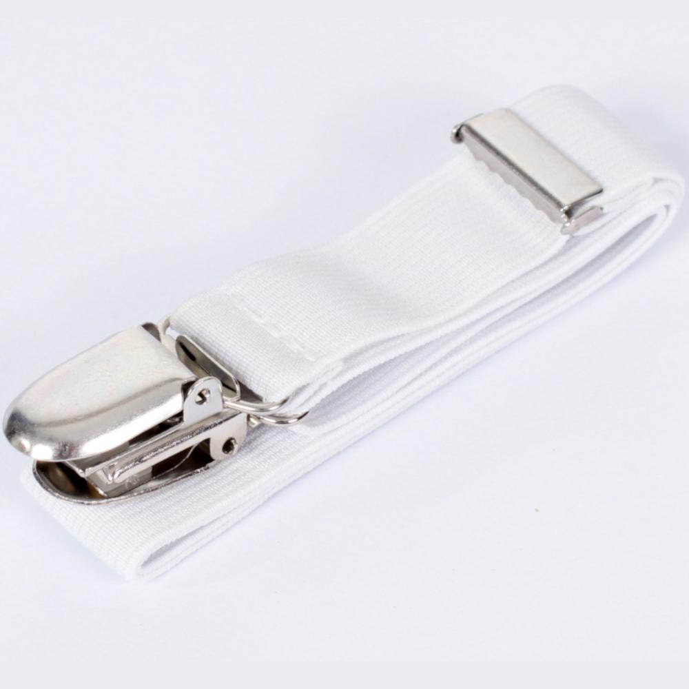 3 Betttuchspanner 60x2 cm - verstellbar - in Weiß