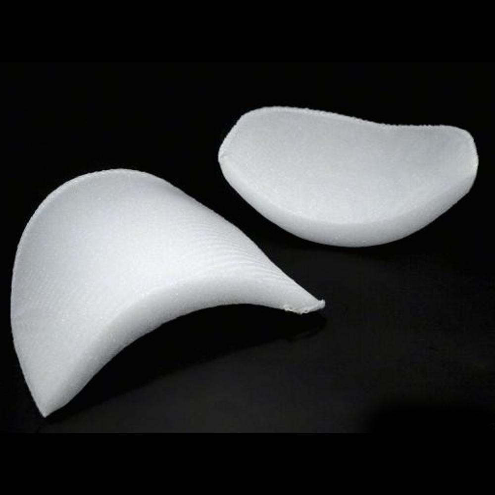2 Stück Schulterpolster 14x12x1,6-1,8 cm in Weiß