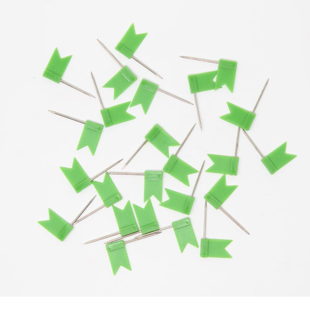 40 Stecknadeln - Fahne - Grün