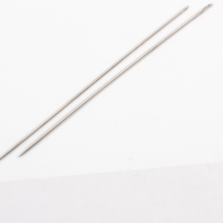 2 Puppennadeln - 12cm lang - 1,0 + 1,2 mm