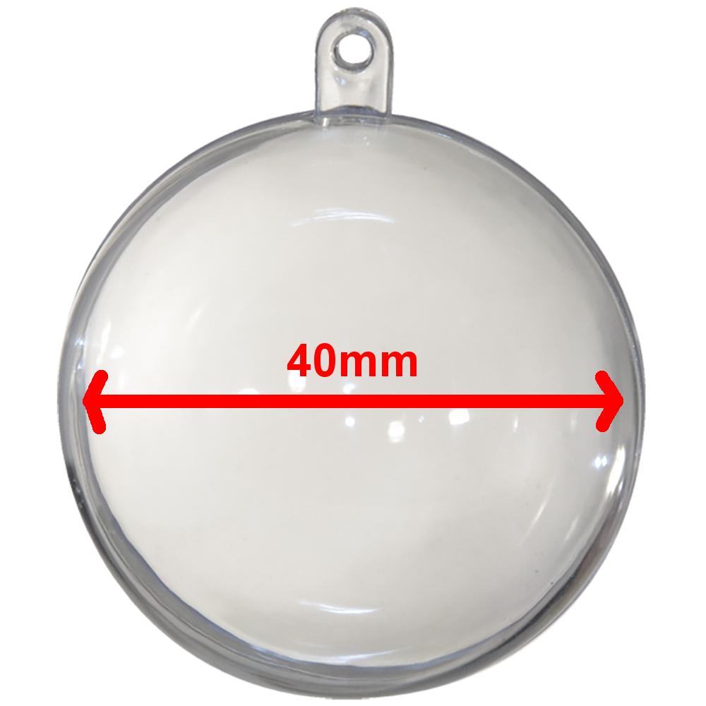 2 teilige Kunststoff Kugel transparent - 40mm