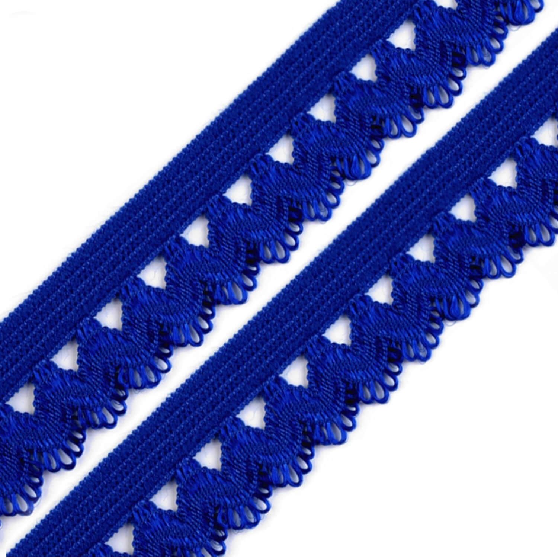 Rüschengummi - 15mm - Tintenblau (16)