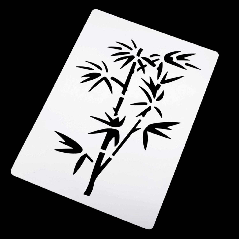 Malschablone Kunststoff - 14 x 15 cm - Pflanze