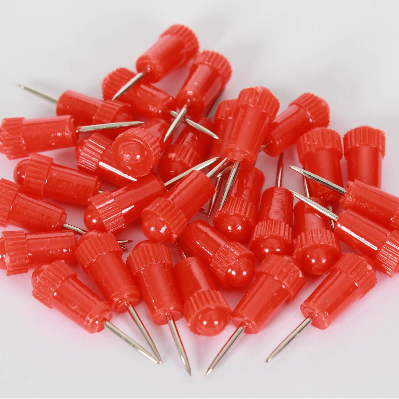 30 Stecknadeln - Markiernadeln - 25mm - Rot