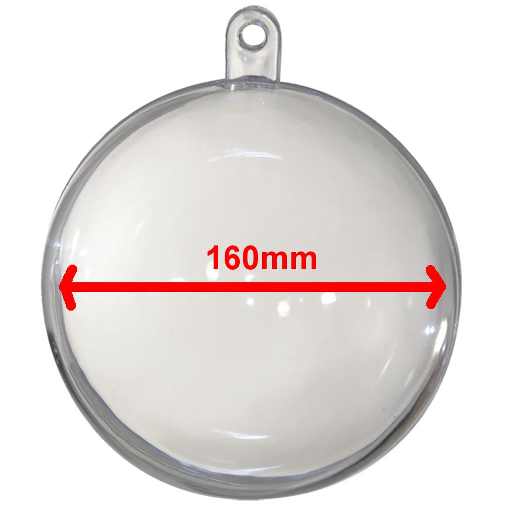 2 teilige Kunststoff Kugel transparent - 160mm