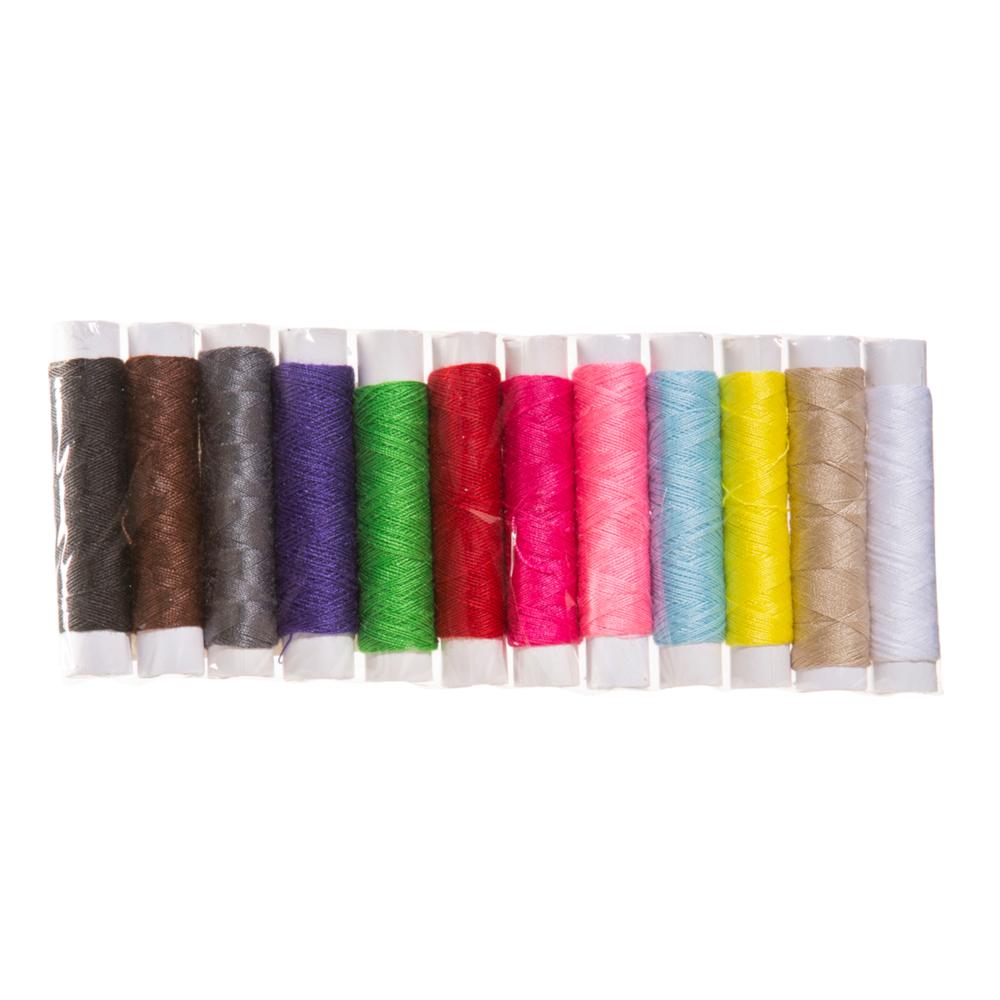 12x 35m Nähgarn in verschiedenen Farben