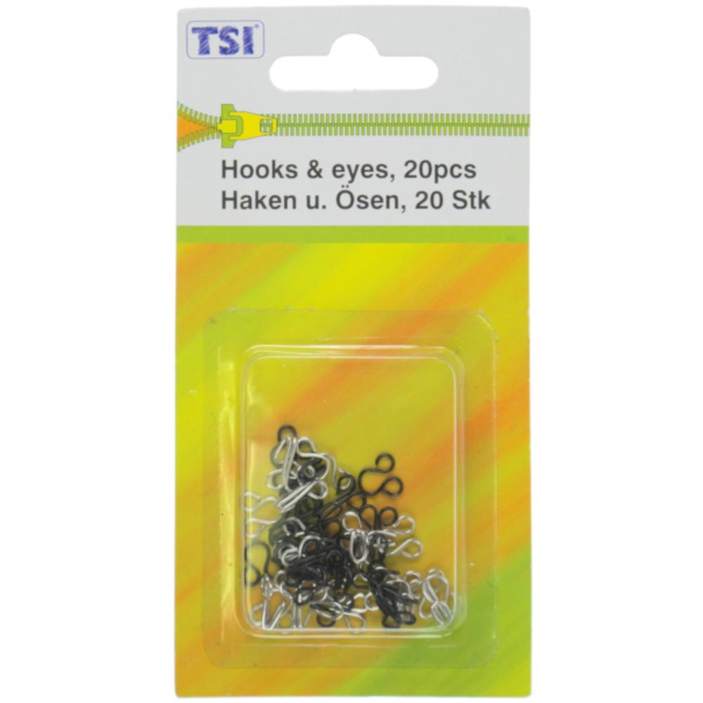 TSI | 20 Haken und Ösen als Wäschehaken zu verwenden