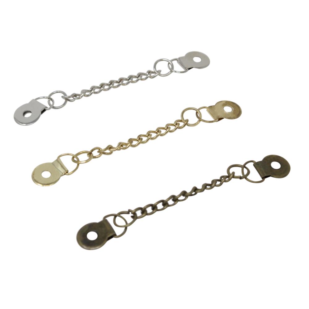 TSI | 3 Mantelaufhänger mit Kette in Silber-, Gold und Altmessingfarbe
