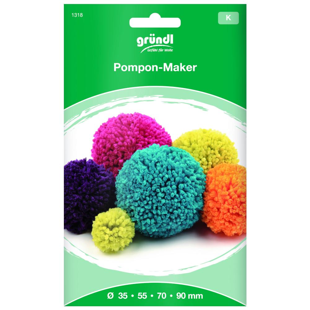 GR   Pompon-Maker - 35/55/70/90mm inkl. Anleitung