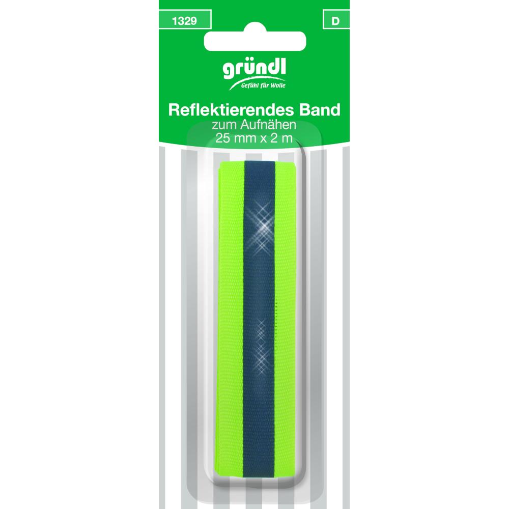 2m Reflektierendes Band zum Aufnähen mit 25mm Breite