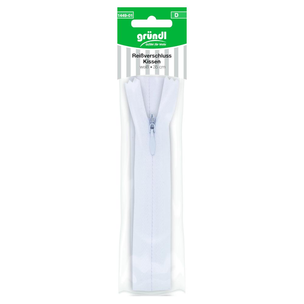 GRÜNDL | Kissen Reißverschluss - nicht teilbar - 35cm in weiß