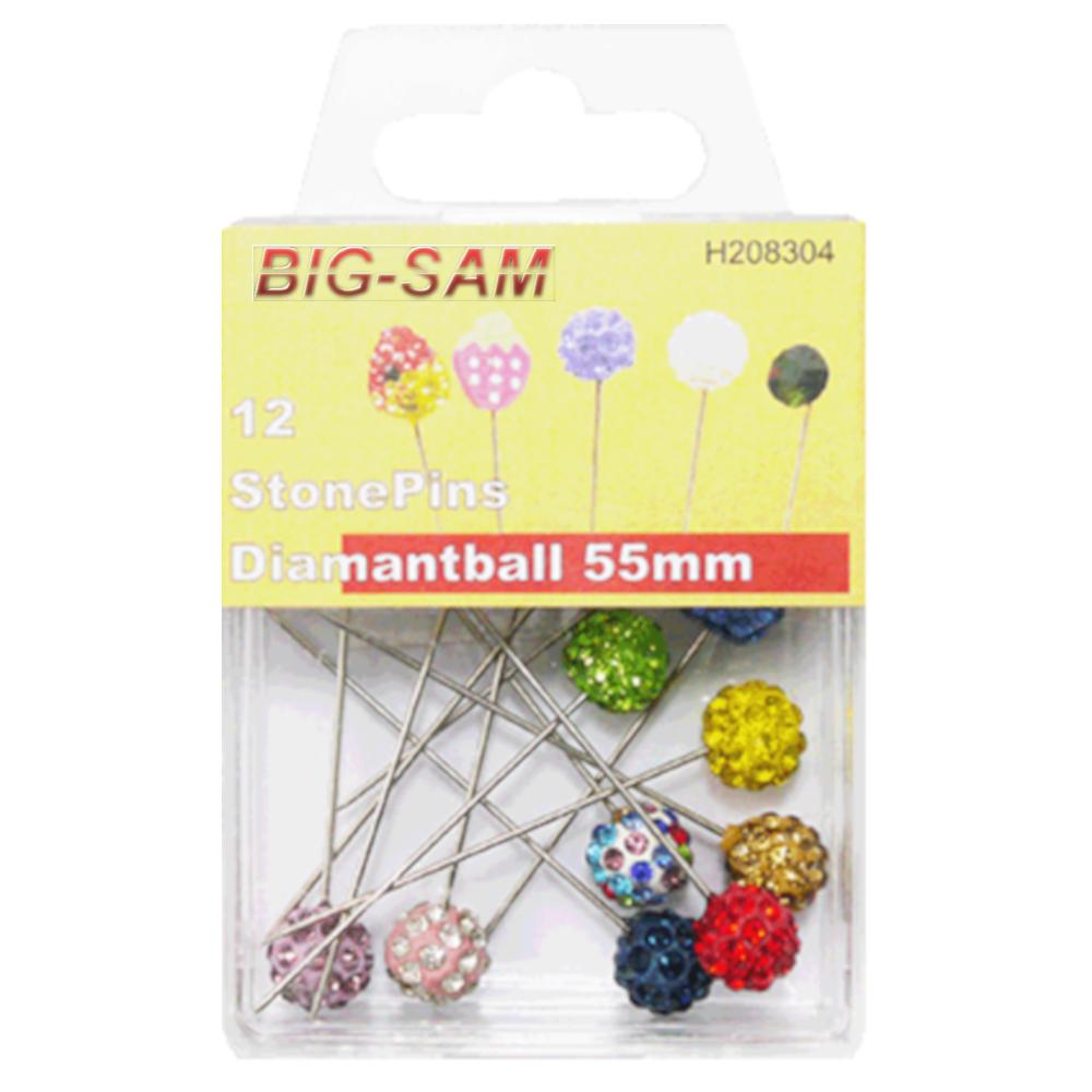 12 StonePins Diamantball - 0,8 x 55mm