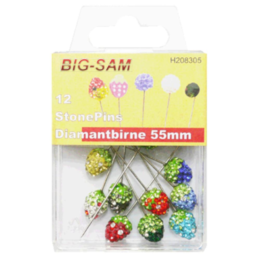 12 StonePins Diamantbirne - 0,8 x 55mm