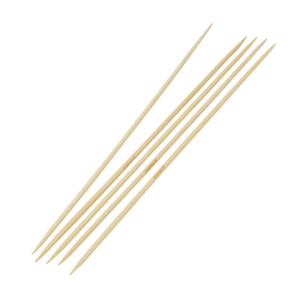 5 Strumpfstricknadeln aus Bambus 20cm lang mit Nadelstärke 2,50mm