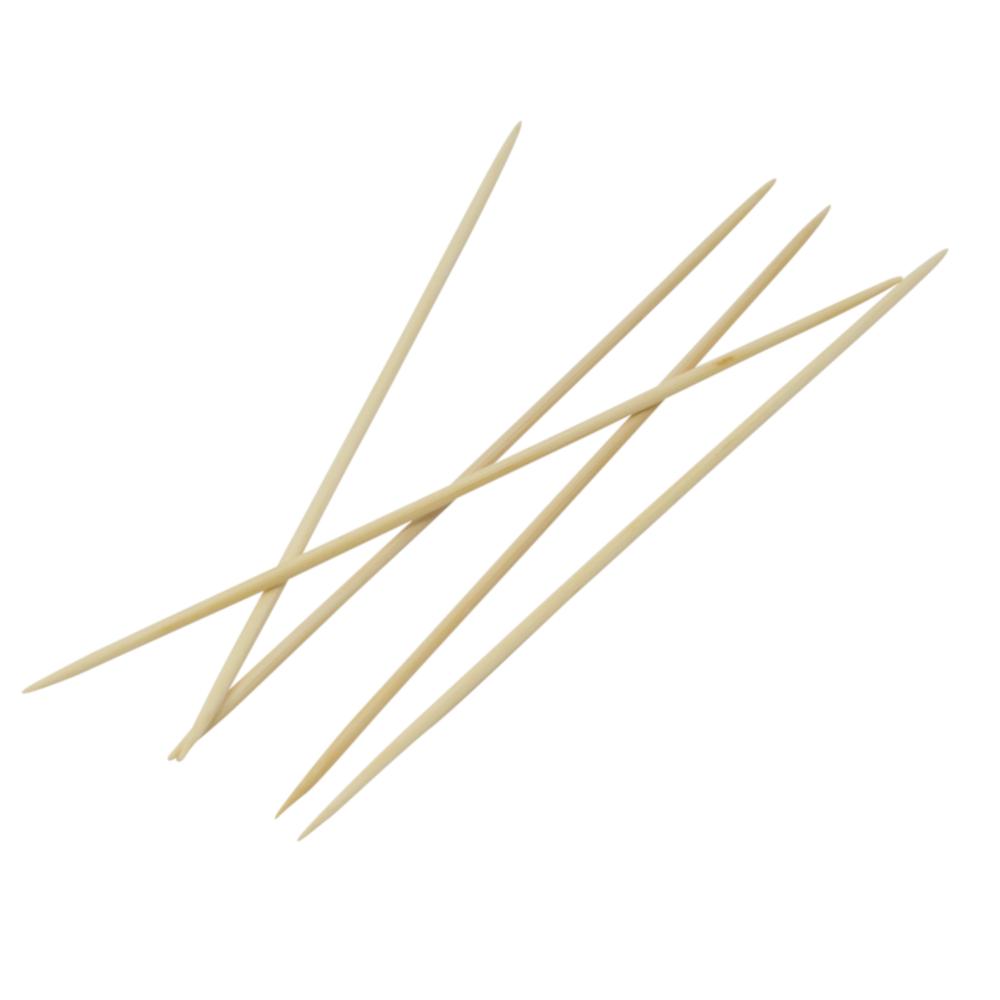 5 Strumpfstricknadeln aus Bambus 20cm lang mit Nadelstärke 3,00mm