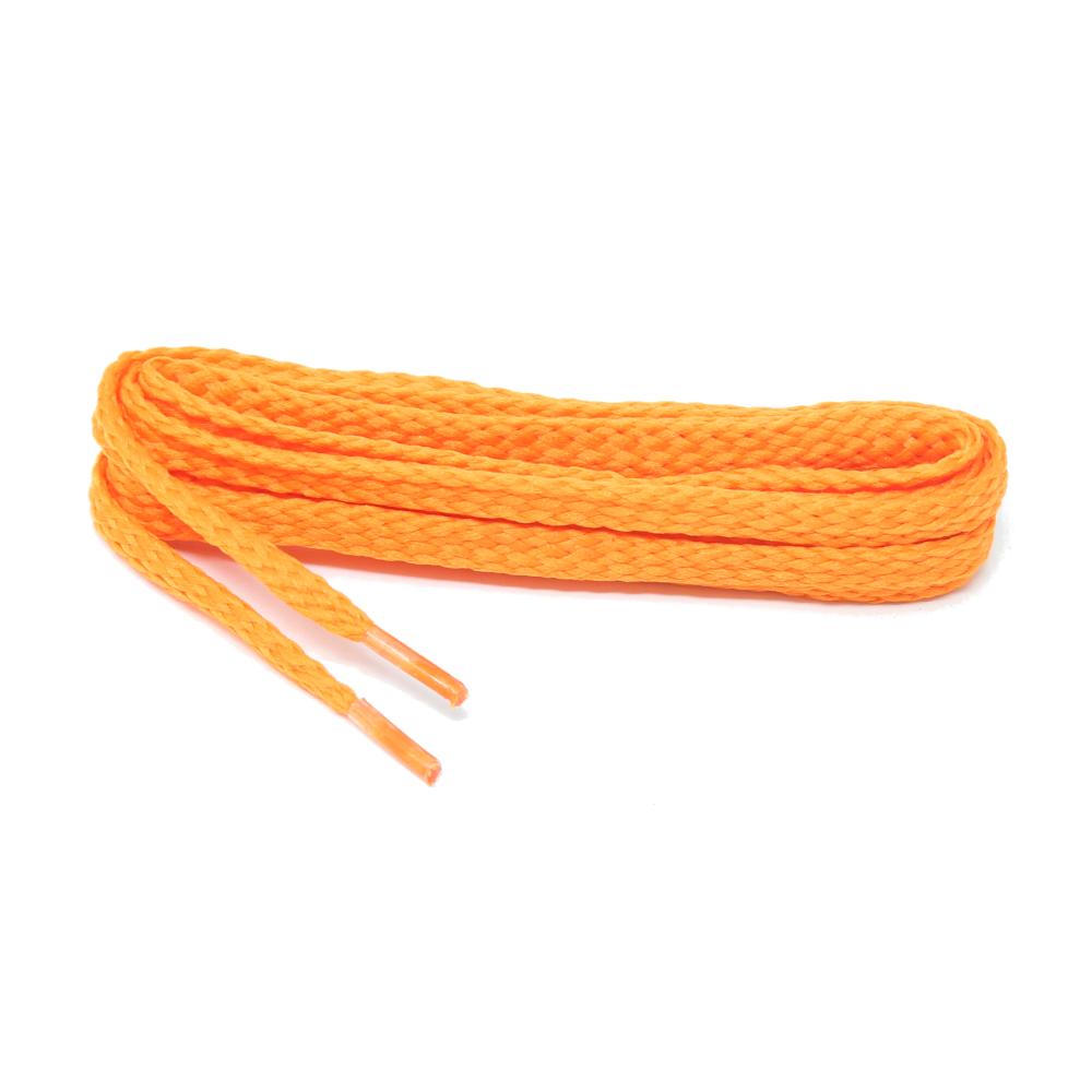 1 Paar flache Schnürsenkel 75 cm in Neon Orange