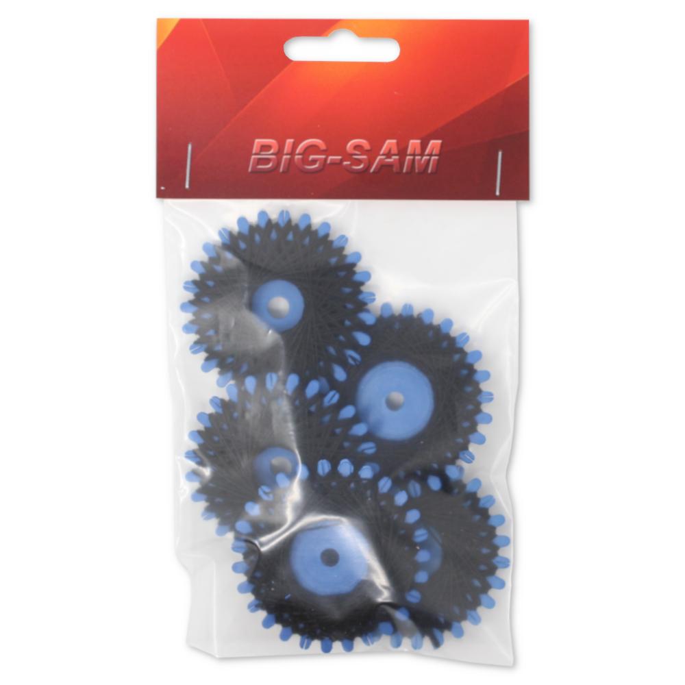 5x Sternzwirn mit je 20m aus 100% Baumwolle Nm 30/3 in Schwarz