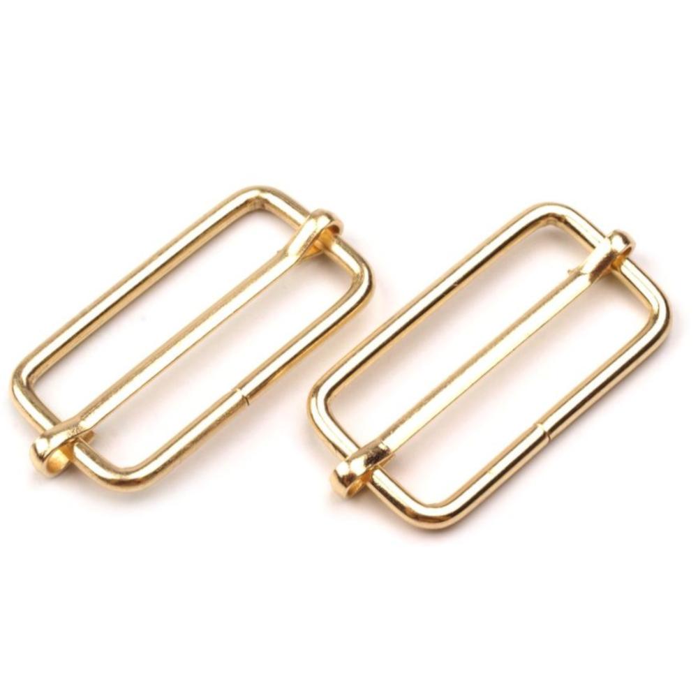 10 Metallschieber für 32mm breite Bänder in Goldfarben