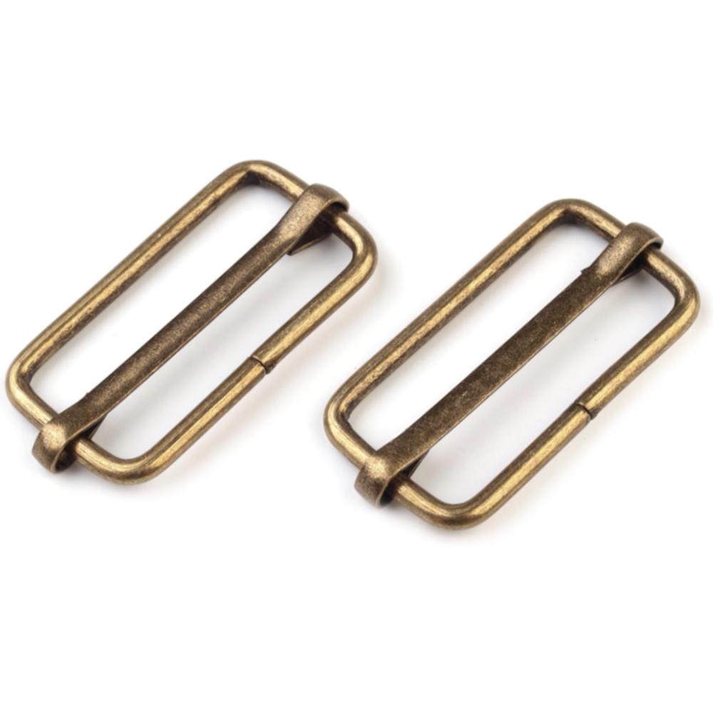 10 Metallschieber für 32mm breite Bänder in Altmessing